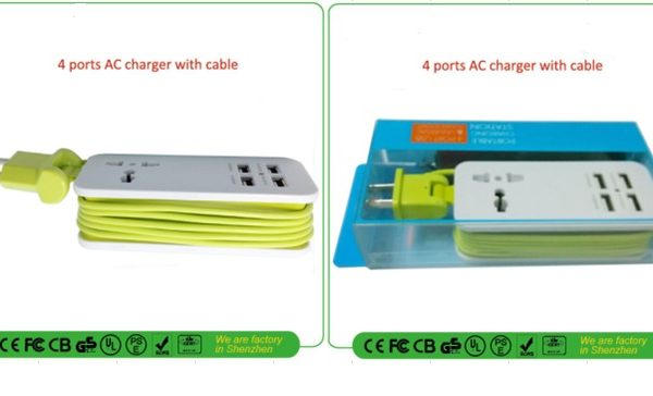 4 port AC charger