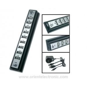 10-ports USB HUB