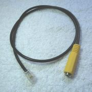 3.5mm 4-conductors jack to 4P4C plug cable