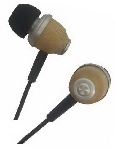 In ear type wooden headset