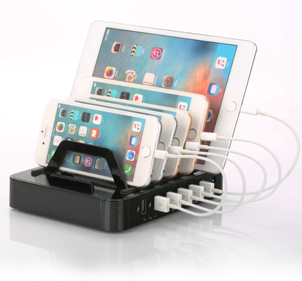 charging station with 6 USB ports
